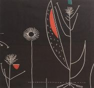 Circa 1956 Lucienne Day Fabric Sample 'Herb Antony' Pattern, framed, 53cm by 53cm