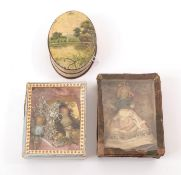 19th Century Wax Miniature Dolls, comprising two cherubs/Christmas decorations with moulded and