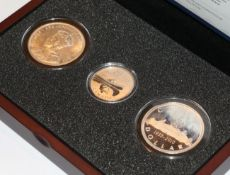Canada, Silver 'Voyageur' Set, a 3-coin set commemorating the iconic 'voyageur' silver dollar