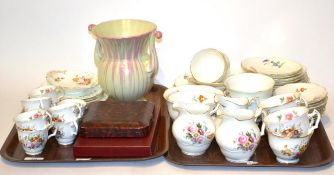 George Jones crescent and a matched Coalport Junetime part coffee service, including nine coffee
