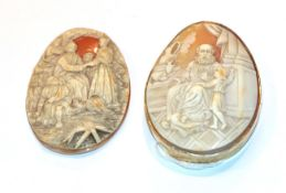 A Victorian cameo brooch, frame stamped '9CT' and an unmounted Victorian cameo