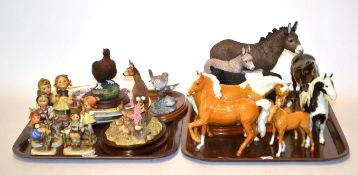 Beswick and Border Fine Arts Including: Studio Models 'Donkey Jenny & Foal', model No. A3699 and '