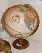 A Replogle 12'' diameter globe