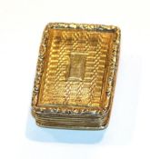 A William IV silver-gilt vinaigrette, by Nathaniel Mills, Birmingham, 1836, oblong, engine-turned