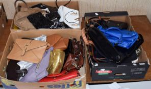 Assorted modern handbags, shoulders bags including Russell & Bromley, La Furla, Suzy Smith gold