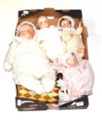 A dream baby style doll copied by Grace S Putnam, made in Germany; another smaller; Theodor
