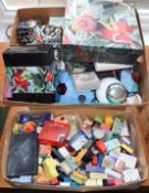Collection of assorted Cacharel dummy factices and scent bottles, advertising items and a box of