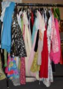 Quantity of assorted circa 1960s and later ladies costume, comprising evening, day wear and