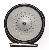 A Hardy Prefect 3 3/8'' RHW Trout Fly Reel with ceramic line guard.
