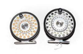 A Hardy LRH Lightweight Trout Fly Reel together with a Hardy Zenith sea trout/salmon fly reel (2)
