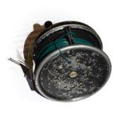 A Hardy Prefect 3 3/4'' RHW Wide Drum Salmon Fly Reel.