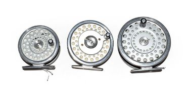 A Hardy Marquis #5 Trout Fly Reel, together with a Hardy Marquis #7 trout fly reel and a Marquis