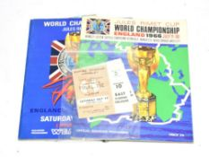World Cup 1966 Cup Final Programme together with Jules Rimet world Championship Official Souvenir