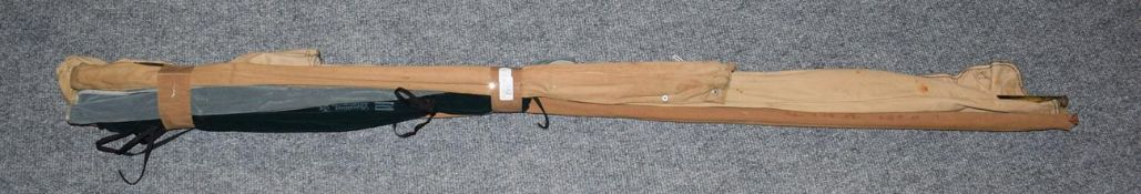 A Hardy ''Rouge River'' 3 Section Split Cane Trout Fly Rod with additional top section, 10', A Greys