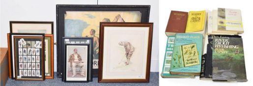 Various Sporting Prints including Walter Travis 'The Deadly Putter'; To the Society of Goffers at