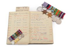 A Second World War DFM Group of Five Medals, awarded to 1398705 SGT.A.T.LARKINS. R.A.F.