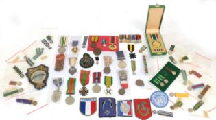 A Collection of Miniature Medals and Insignia, including Rhodesian miniatures,