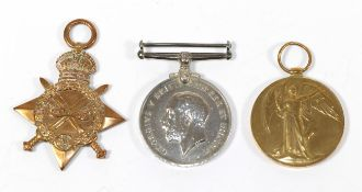 A First World War Trio, comprising 1914-15 Star, British War Medal and Victory Medal,