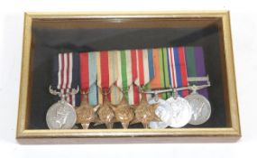 A Second World War MM Group of Eight Medals, awarded to 4614146 SJT.J.H.PIERCY K.O.Y.L.I.