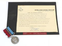 Unit Citation Certificate & Rhodesian General Service Medal, to 66898P VDT Dabulewicz Wlodzimierz.