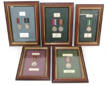 A Collection of Seven Rhodesian Service Medals:- Exemplary Service Medal (WO1 N M Mashumba);