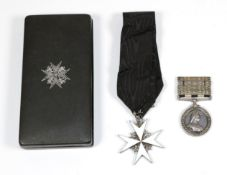 An Order of St. John Pair to Commissioner Bull, Matabeleland District, St.