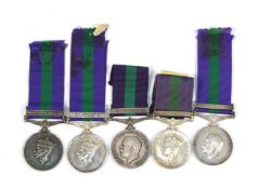 A Collection of General Service Medals GV Kurdistan to 7254660 Pte E Kassell RAMC GVI Palestine