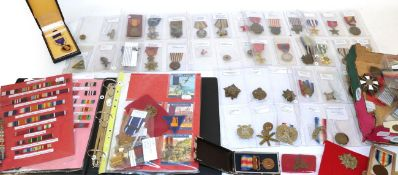 A Collection of World Medals and Insignia; including British, American, European and Japanese,