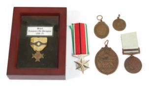 Six Various World Medals: - South African Police Medal for Combating Terrorism H F Marais 30.6.
