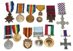 Three Single First World War Medals, comprising 1914-15 Star, to T4-123640 PTE.R.J.RUSSELL, A.S.C.