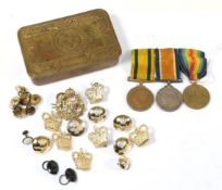 A First World War Trio, comprising Territorial Force War Medal, to 1647 PTE.E.F.D. LARAMY. 1-LOND.R.