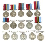 A Collection of Fifteen Rhodesian General Service Medals:- to 71986 M W Barnes;