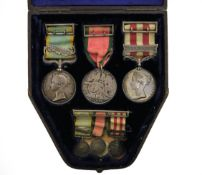 A Victorian Group of Three Medals, comprising Crimea Medal with clasp SEBASTAPOL, awarded to LIEUT.