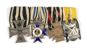 A Great War German Medal Bar of the Bavarian State.