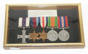 D.Day Landing - M.C. Group of Five Medals, awarded to Major L.