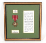 A Bronze Cross of Rhodesia, to R44525 L/Cpl G Gayon Selous Scouts, officially impressed. B.C.R.