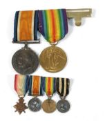 A First World War Pair, awarded to MAJOR N.A.A.HUGHES,DD (Dr.