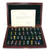 A Commemorative Set of Thirty Four Rhodesian Miniature Medals and Awards,