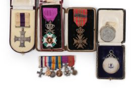 A First World War Gallantry Group of Three Medals, comprising Military Cross,