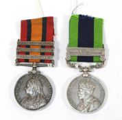 A Queen's South Africa Medal, with three clasps CAPE COLONY,