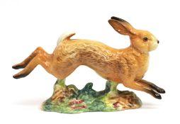 Beswick Hare - Running, model No. 1024, tan gloss