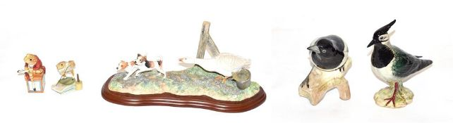 Beswick Birds 'Lapwing', model No. 2416 and 'Magpie', model No. 2305; together with Border FIne Art