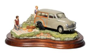 Border Fine Arts 'A Day in the Country' (Morris 100 Traveller), model No. JH93 by David Walton,