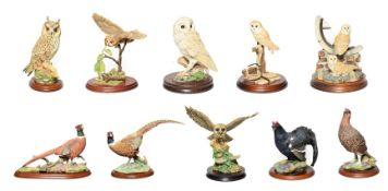 Border Fine Arts Bird Groups Including: 'Silent Sanctuary' (Barn Owl), model No. SOC1 and 'Barn Owl'