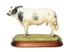 Border Fine Arts 'Belgian Blue Bull' (Style One), model No. B0406 by Ray Ayres, limited edition