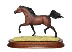 Border Fine Arts 'Arab Stallion' (Trotting, Style Two), model No. L135C by Anne Wall, limited