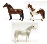 Beswick Horses Comprising: Connemara Pony ''Terese of Leam'', model No. 1641; Exmoor Pony ''
