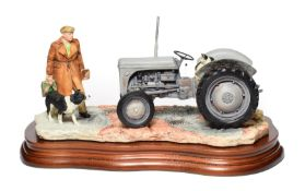 Border Fine Arts 'An Early Start' (Massey Ferguson Tractor), model No. JH91B by Ray Ayres, on wood