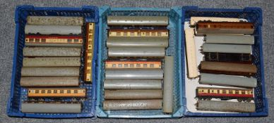 Hornby Dublo 2/3 Rail Coaches a collection of 32 assorted coaches including three LNER examples (
