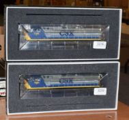 Atlas Model Railroad (Gold Series) HO Gauge Two Locomotives 9677 CSX-Road 7681 Dash 8-40CW and